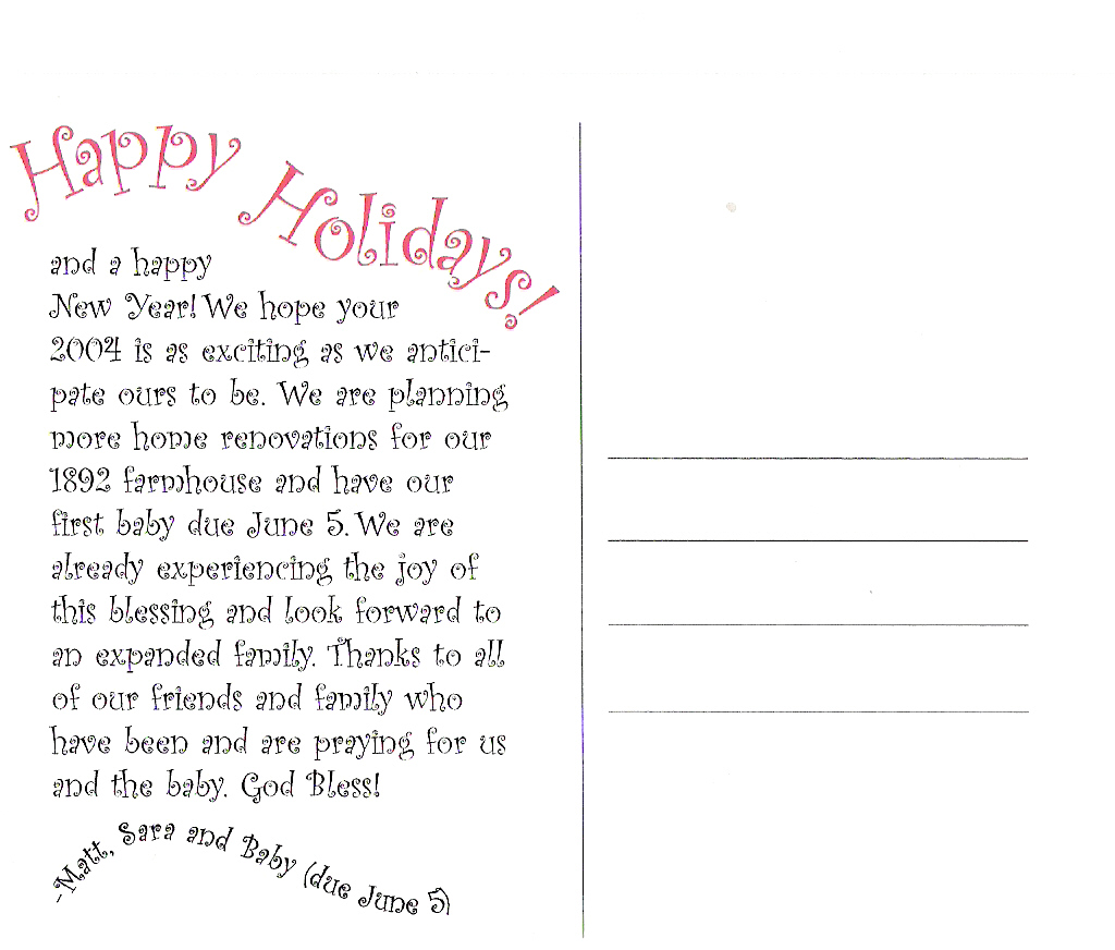 Christmas card letter ideas peopledavidjoel ideas for christmas letters sara mason spiritdancerdesigns Images