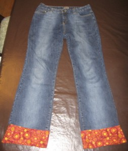 Final jeans hem