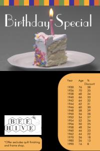 Birthday Flyer Color