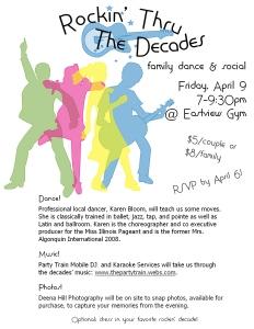 Decades Dance Invite
